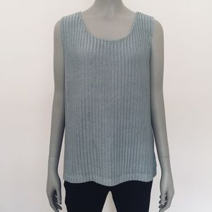 Chico's Travelers sleeveless shell tank top silver